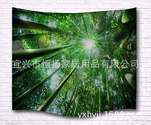 JCDZH-FT Digitaldruck Sonne Bambus Schatten Strand Handtuch Tapisserie Wandteppich, 229 * 153cm
