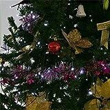 Cadena de Luces Solar con 200 LEDs, Lámpara Decorativa Impermeable para Jardín, Bodas, y Árbol de Navidad al Aire libre