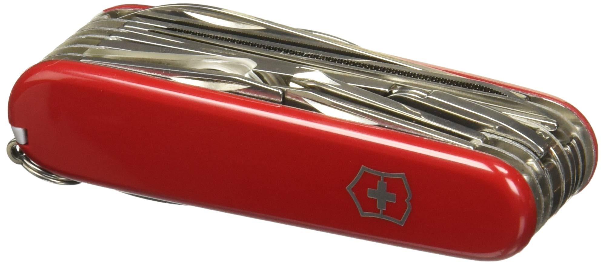 Victorinox Taschenwerkzeug Offiziersmesser Swiss Champ Rot Swisschamp Officer's Knife, Red, 91mm 2