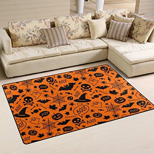 ingbags Super Weich Moderner Halloween orange Festive, ein Wohnzimmer Teppiche Teppich Schlafzimmer Teppich für Kinder Play massiv Home Decorator Boden Teppich und Teppiche 78,7x 50,8cm