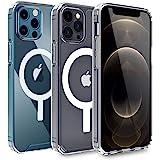 AICase Custodia Trasparente per Phone 12 PRO Max con Cerchio Magnetico Integrato per Phone 12 PRO Max 6.7 Pollici 2020