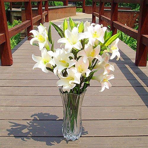 (1Pc) - 29cm Kristall Klaren Glaswaren Vasen - Blumenvase Gross für Hochzeit Mittelstück Dekoration, Hohe Blumenvasen für Wohnzimmer, Dekoration - Hochzeitsgeschenk und Wohndekor ()