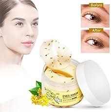 40 coppie/Bottiglia Golden Osmanthus Antirughe Maschera Patcha Idratante Nutriente, L'idratante antirughe maschera per gli occhi contro le occhiaie e rughe Anti Aging