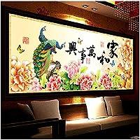 Croce, Pavone, fiore, stile cinese, P0167