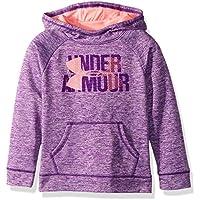 Under Armor Girls' Armour Fleece Big Logo Printed Hoodie, Black/Black, Youth Large
