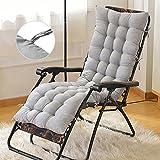 Unbekannt Sonnenliege Auflagen, Liegestuhl, dicker Bezug für den Außengebrauch Polster, 160*48*8cm (Grau)