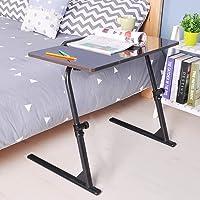 soges Table de Lit Canapé Petit Bureau, Table d'appoint avec Panneau de Souris pour Ordinateur Portable,80 * 40cm S1-2BK