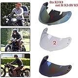 3 Snap Parabrisas Visera para Motocicleta Ciclista para K3 K4 Casco Visera de Moto Engranaje Protector - #1