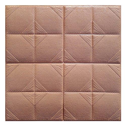 Carta da parati mattoni 3d adesiva winomo pannelli decorativi in schiuma adesivi murali impermeabili rimovibile 60x60cm (caffè)