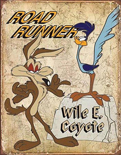 road-runner-wyle-e-coyote-tin-sign-13-x-16in-by-the-vintage-sign-store