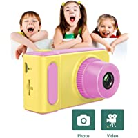 HALO NATION Kids Digital Camera Cute X1 1080P HD Video Action Camcorder with Loop Recording & Digital Photography & 2 inch Screen - Mini Multi-Functional Camera for Kids (Pink)