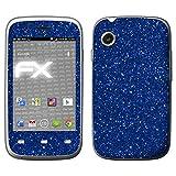 atFolix Skin kompatibel mit Wiko Ozzy, Designfolie Sticker (FX-Glitter-Blue-Danube), Reflektierende Glitzerfolie