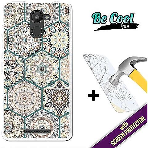 Becool® Fun - Funda Gel Flexible para Bq Aquaris U Plus, [ +1 Protector Cristal Vidrio Templado ] Carcasa TPU fabricada con la mejor Silicona, protege y se adapta a la perfección a tu Smartphone y con nuestro exclusivo diseño. Mosaico de