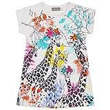 Bóboli Mädchen Kleider Knit Stretch Dress For Girl, Weiß (White 1100), 140 (Herstellergröße: 10)