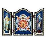 NKlaus 1404 GM Allsehende Auge Gottes christliche Ikone Triptychon Vsevidjashhee Oko