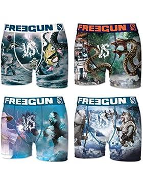 Freegun Boxer, Shorts para Niños (Pack de 4)
