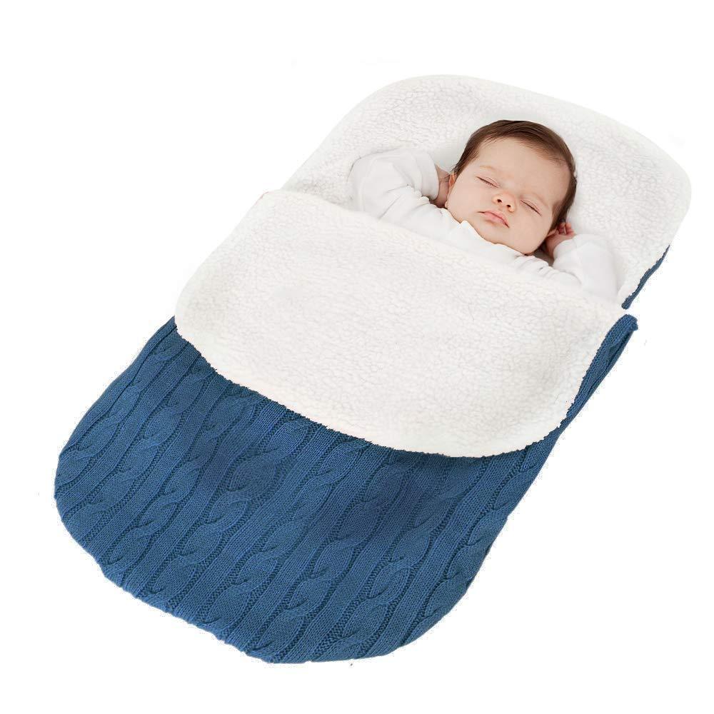 Tukistore Recién Nacido Bebé Tejido de Punto Envoltura Manta Saco de Dormir
