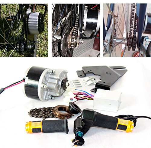 250 W elettrica spazzola motore per bicicletta di acceleratore con interruttore a chiave e la tensione della batteria facile motorsatz per fai da te e Bike (24V 250W)