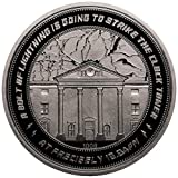 Iron Gut Publishing Back to The Future Collectable Coin 25th Anniversary Clock Tower (Silver Plated)