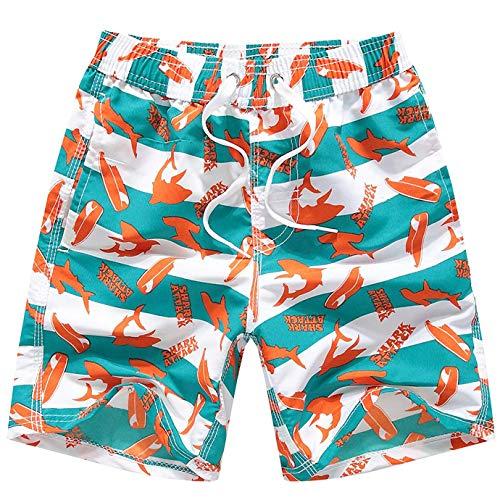 Coralup - Bañador para niños Secado rápido Naranja Naranja 13-14 años