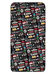 MADANYU FRIENDS Icons And Graffiti Designer Printed Hard Back Shell Case For Oppo F1S
