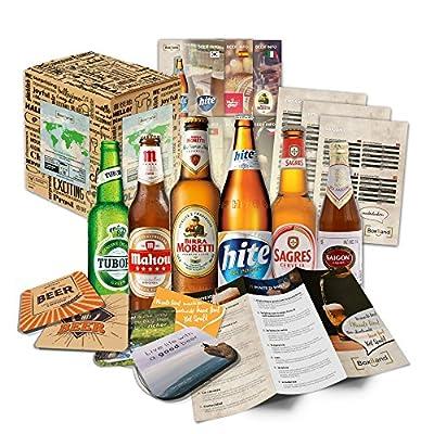 Biere der Welt (6 x 0,33l) internationale Bier Spezialitäten zum verschenken (Beste Biere der Welt mit Geschenkkarton (Bier + Tasting-Anleitung + Bierbroschüre + Brauereigeschenke + Geschenkkarton)