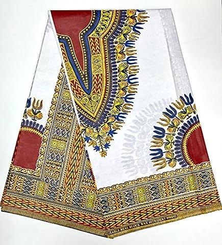 Wax Pagne Tissu Africain Super cire imprimé DASHIKI top qualité matière glissante type JAVA coupon 6 YARDS