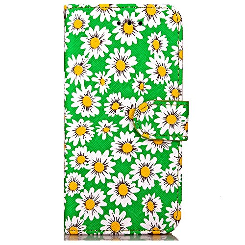 iPhone Case Cover Qualität PU-Leder-Kasten, Chrysantheme-Blumen-Muster-Mappen-Standplatz-Fall Foto-Fenster-Kasten für iPhone 7 ( Color : Red , Size : IPhone 7 ) Green