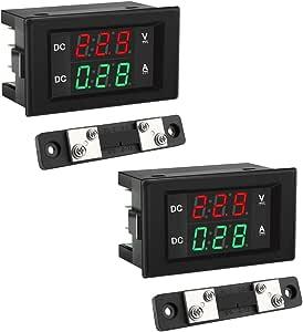 Zhiting 2 Stk Dual Display Volt Amp Voltmeter Amperemeter 0 28