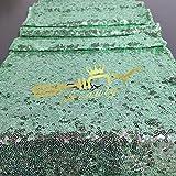 Shinybeauty, runner con paillettes color champagne, 33x 213cm, lussuosa decorazione per tavola da matrimonio, Mint Green, 13x84in