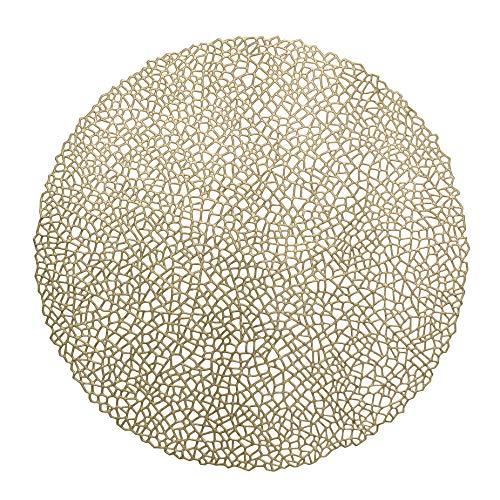 STIC TABLEWARE Anlässe Hochzeit Party 2Stück gepresst Vinyl Metallic Tischläufer Mystique, Gold ()