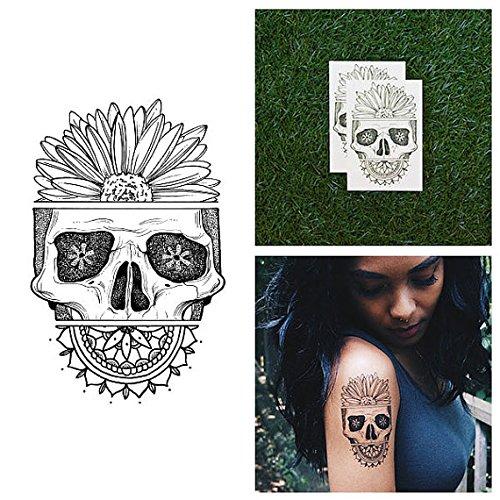 tattify-tatouages-temporaires-crane-avec-tournesol-p-tale-de-la-mort-set-de-2