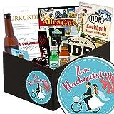 Zum Hochzeitstag | Männer Set | Geschenk Ideen | Zum Hochzeitstag | Männer Box | Geschenk zum Hochzeitstag Ehemann | Hochzeitstags Geschenk | GRATIS DDR Kochbuch