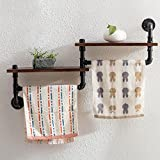 Deko Wandregal LOFT Wooden Kleiderständer Retro Iron Water Pipe Shelf Bad Handtuch Rack WC Bad Handtuch Regal Wand