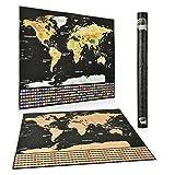 Weltkarte World Map |Rubbelweltkarte| | Scrape Off World Map|XXL 82.5 x 59.4 CM Mit dem Flag-Muster, Personalisiertes Poster um Reisen zu verfolgen - Zeigen Sie Ihre Abenteuer