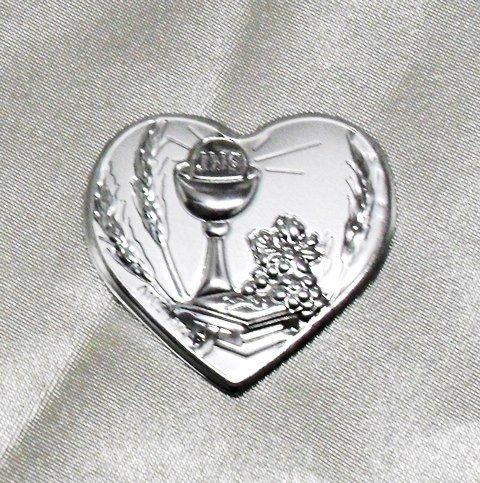 Dlm24321 calamite a cuore con calice della comunione (24 pezzi) bomboniera