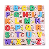 Sunsoar Wooden Alphabet English Letters Jigsaw Puzzle Kids Educational (Upper case) Birthday Chriamas