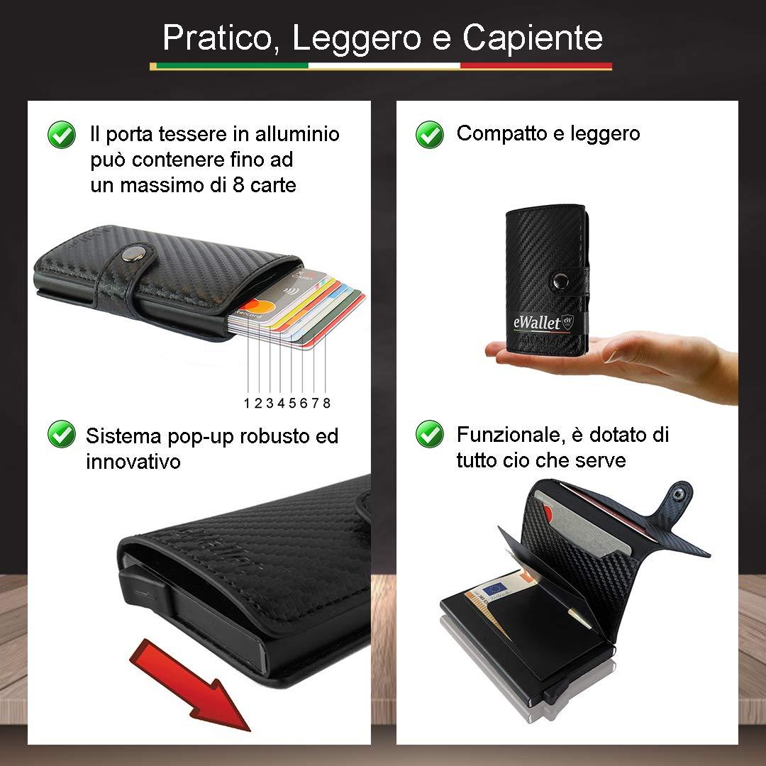 55dcd063a9 Porta Carte di credito, eWallet, Portafoglio, Blocco RFID, in Pelle ...