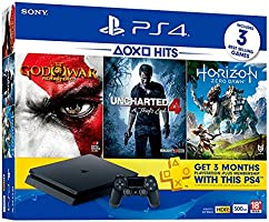 Sony PS4 500 GB Slim Console (Free Games: OM GOW/UC4/HZD)