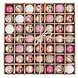 Victor's Workshop 49Pcs Bolas de Navidad de 3cm, Adornos de Navidad para Arbol,...