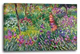 Printed Paintings Leinwand (120x80cm): Claude Monet - der Schwertlilien-Garten in Giverny