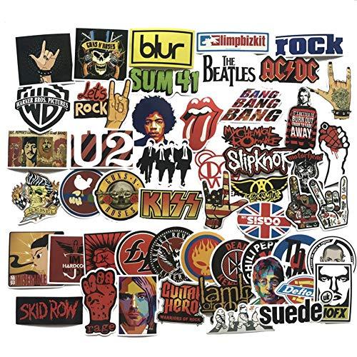 QueenHome Aufkleber Pack [52-pcs] Sticker Decals Laptop Fahrrad Gepäck Skateboard wasserdichte Aufkleber Pack