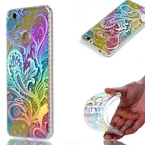 Huawei-P8-Lite-2017-Custodia-Huawei-P8-Lite-2017-Cover-JAWSEU-Shock-AbsorptionAnti-Scratch-Protezione-Bumper-per-Huawei-P8-Lite-2017-Cristallo-Trasparente-Custodia-Cover-Case-Caso-Bella-Luminoso-Ultra
