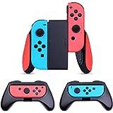 HEYSTOP Nintendo Switch JoyCon Grips 3 Pièces, Manette Switch Coque de Protection Contrôleur Jeu Poignées Kit pour Nintendo S