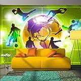 murando - Fototapete Fussball 400x280 cm - Vlies Tapete - Moderne Wanddeko - Design Tapete - Wandtapete - Wand Dekoration – Fußball Sportplatz grün Kindertapete Kinderzimmer Kinder i-A-0093-a-d Vergleich