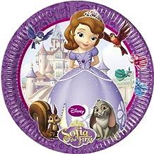 20cm Disney Sofía la Primera platos de papel para fiesta, pack de 8
