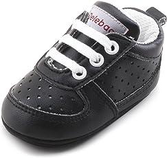 DELEBAO Babyschuhe Krabbelschuhe Turnschuhe Lauflernschuhe Weiche Sohle Baby Schuhe Lederschuhe Erste Kinderschuhe Kleinkind für Mädchen Jungen