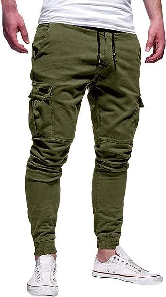 Pantalon Cargo Slim Homme Ample Casual Mode /ÉT/é Pantalons De Sport Jogging Multi Poche Cordon De Serrage Baggy Style Pants