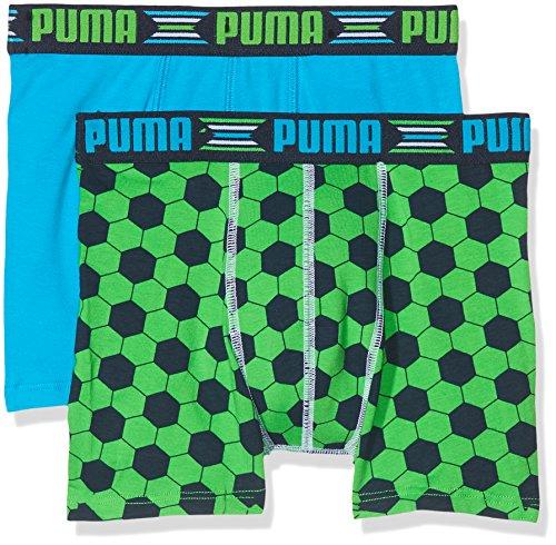 Puma Jungen Panties Play World Cup Print Boxer 2P, Vert (Green/Blue), 15-16 Jahre (Herstellergrößen: 176 cm)