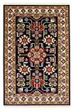 A2Z Rug Modern & Traditional Persian Design (Navy Blue - 100x150 cm - 3'3''x4'9'' ft) Area Rugs Pazirik Collection - Contemporary Living & Dinning & Bedroom Soft Carpet